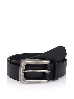 John Varvatos Star USA Men's Smooth Strap Belt (Black)