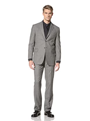Yves Saint Laurent Men's Pinpoint Suit (Grey/Black)