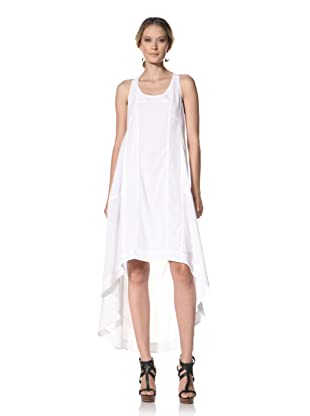 Kenneth Cole Women's High-Low Maxi Dress with Seaming Detail (White)