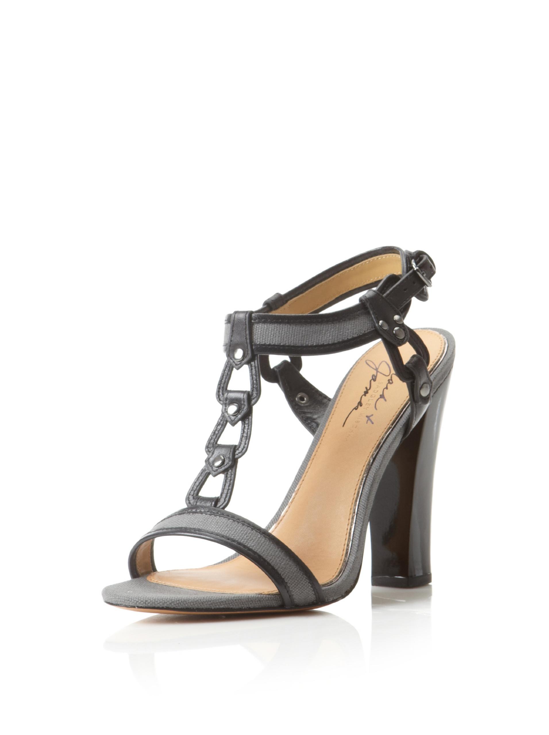 Mark + James Women's Canvas Sandal (Black/Charcoal)