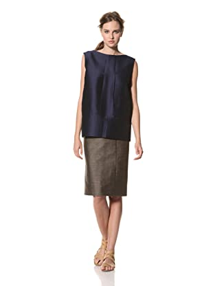 MARNI Women's Solid Sleeveless Top (Blue)