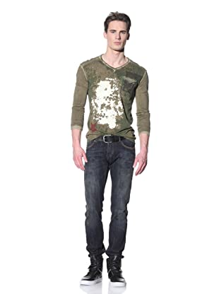 Just Cavalli Men's Gold Slim Jeans (Blue)