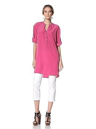 Kenneth Cole Women's Stand Collar Shirt Dress (Geranium)