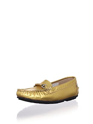 W.A.G. Kid's Metallic Moc Loafer (Gold)