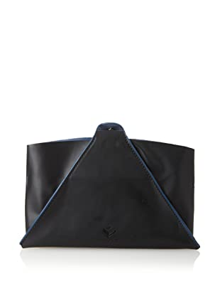 J.Fold Unisex Pop-Up Kindle Fire Sleeve & Stand (Navy with Blue Trim)