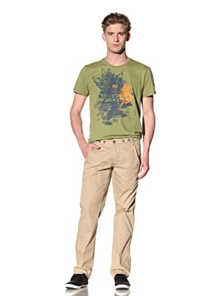 No Excess Men's Suspender Pant (Khaki)