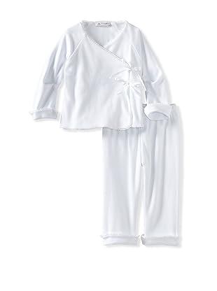 Charabia Girl's Kimono Top and Pants (White)