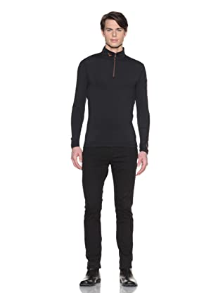 Hawke & Co Men's Half-Zip Compression Shirt (Black)