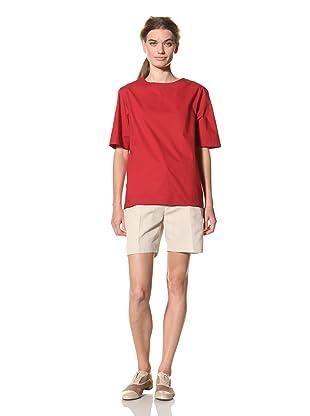 MARNI Women's Short Sleeve Crew Neck Top (Red)