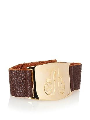 Lisa Stewart Gold A Initial Cuff Bracelet
