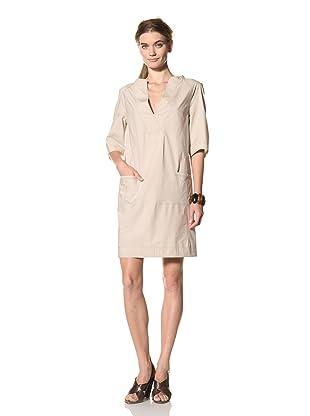 MARNI Women's Half Sleeve V-Neck Dress (Grey)