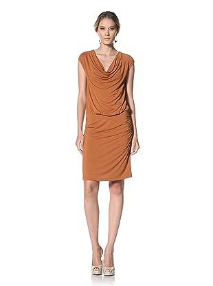 Kenneth Cole Women's Cowl Neck Dress (Maple)