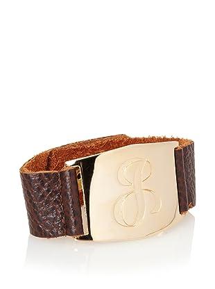 Lisa Stewart Gold J Initial Cuff Bracelet