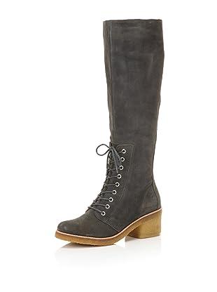 Belle by Sigerson Morrison Women's 6643 Knee-High Boot (Dark Grey Suede)