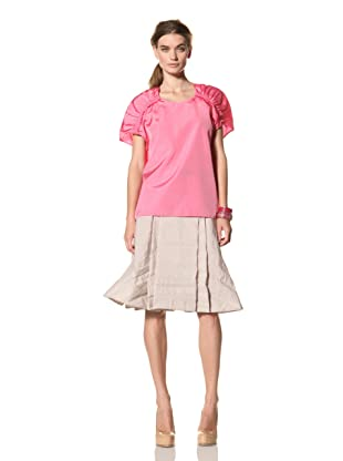 MARNI Women's Top with Gathered Shoulders (Pink)