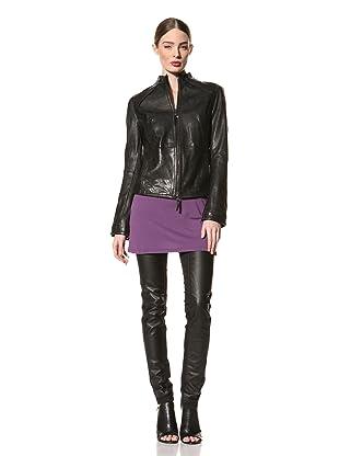 +Beryll Women's Leather Jacket (Black)