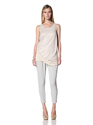 Poleci Women's Laser Cut Layer Top (Stone)