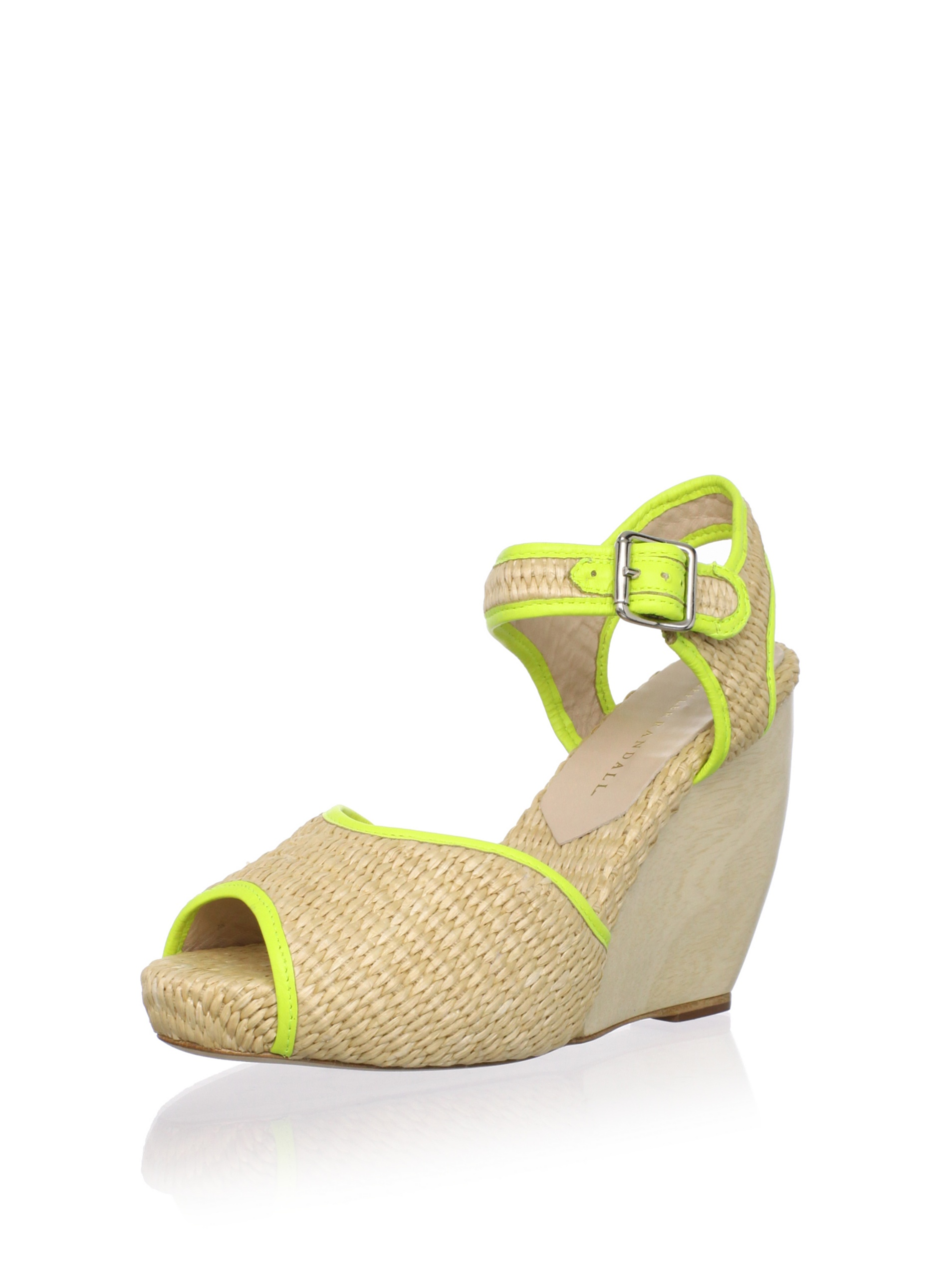 Loeffler Randall Women's Valentine Wedge Sandal (Natural/Acid)