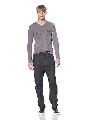 i.am Men's Curved Leg Pants (Dark Blue)