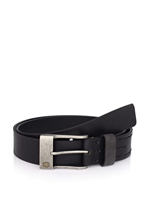 Calvin Klein Men's Flat Strap Belt With Laced Wax Cord (Black)