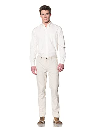 Onassis Men's Boardwalk Slim Stripe Pant (Cream)