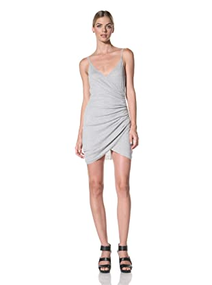 FACTORY by Erik Hart Women's Tank Dress with Side Ruching (Light Heather Grey)