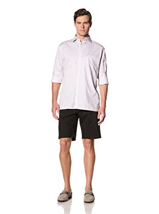 Bobby Jones Men's Twill Check Spread Collar Shirt (Harbor Blue)