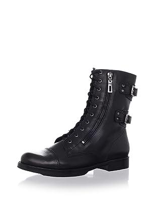Schutz Women's Flat Lace-Up Boot (Black)