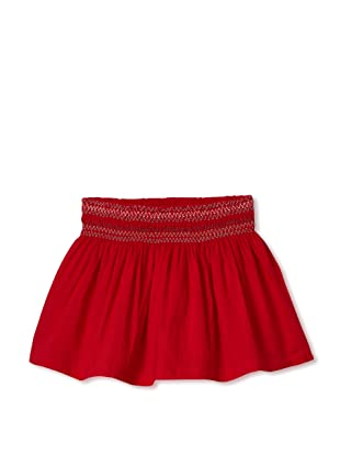Le Petit Pumm Girl's Shirred Bubble Skirt (Red)