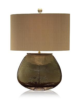 John-Richard Collection Bottle Green Glass Ovoid Table Lamp
