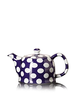 Classic Coffee & Tea White Dots Teapot (Violet Purple)