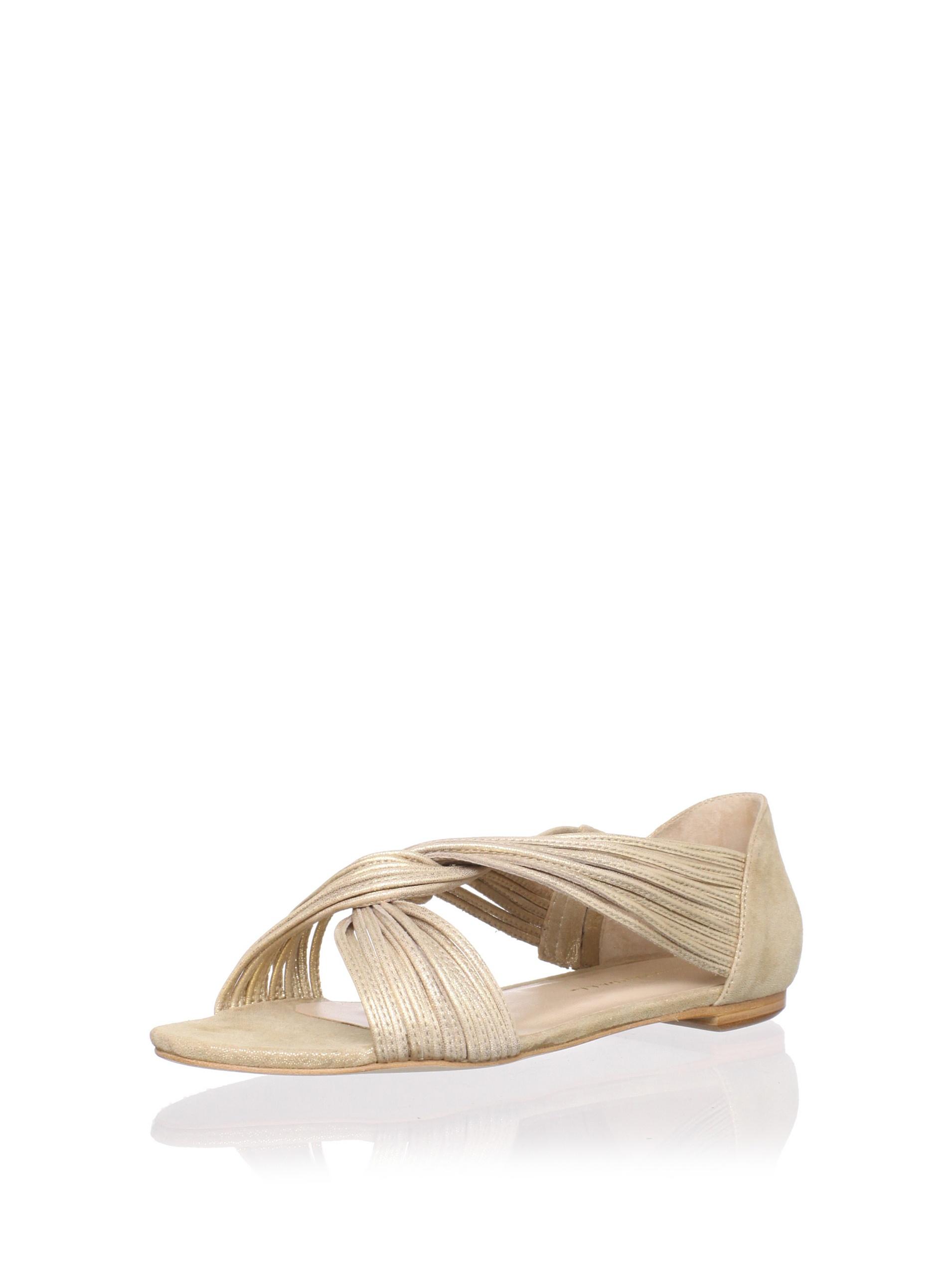 Loeffler Randall Women's Luca Mignon Flat (Gold)