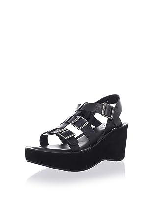 Kork-Ease Women's Madalena Buckled Sandal (Black)