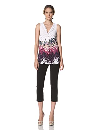Kenneth Cole Women's Ocean Mist Printed Knit Top (White Combo)