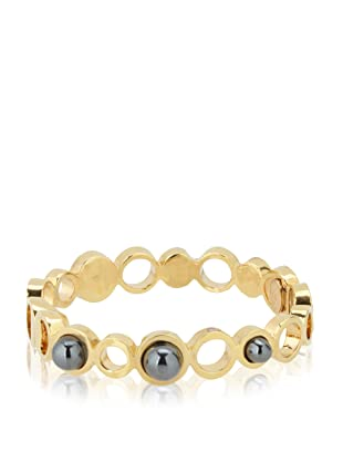 Kara Ross Hematite Stone Bangle
