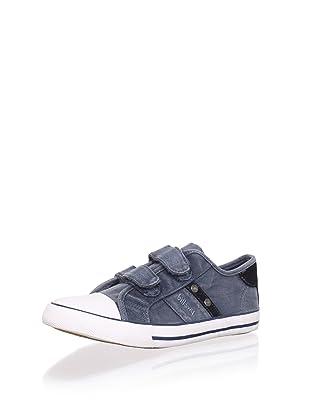 Billowy Kid's Dual Strap Canvas Sneaker (Blue)