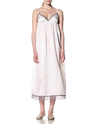 Toute la Nuit Women's Long Backless Gown (Ivory/Grey)