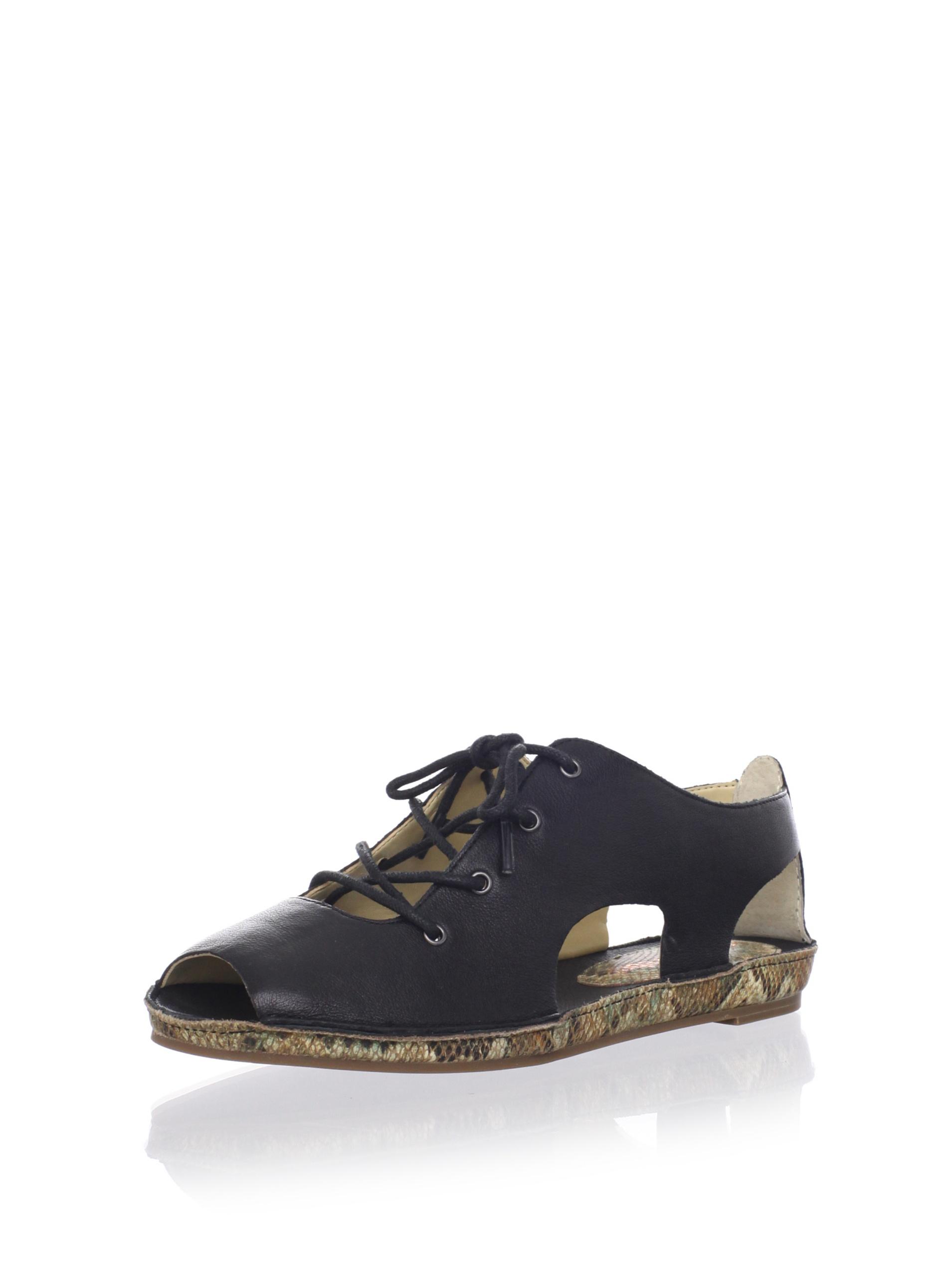 Luxury Rebel Women's Azura Flat Sandal (Black)