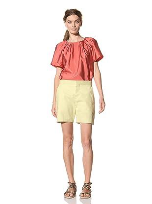 MARNI Women's Flat Front Short (Light Lime Green)