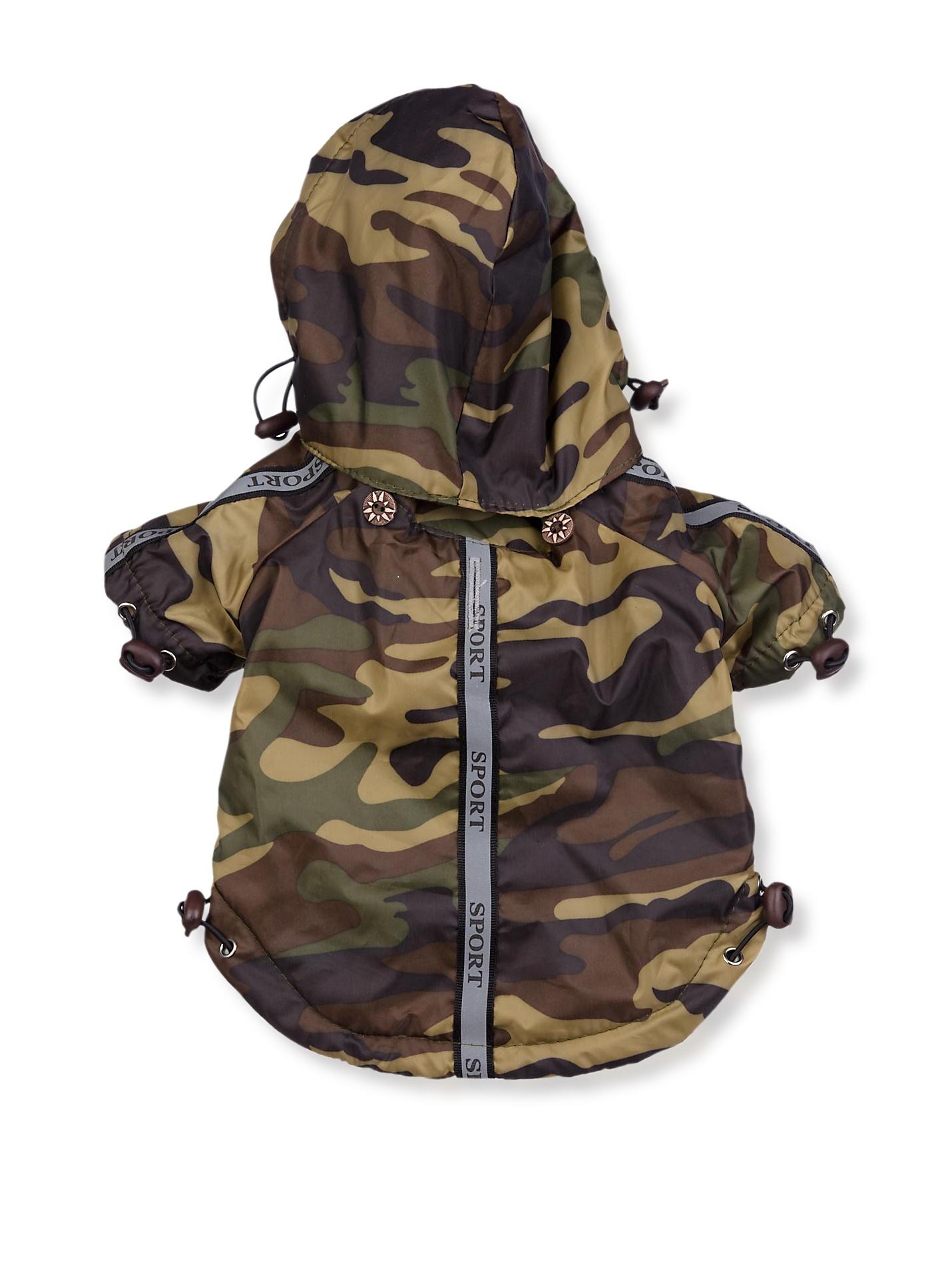 Pet Life Reflecta-Sport Rain Jacket and Windbreaker (Camouflage)