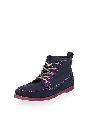 Sebago Women's Beacon Lace-Up Boot (Navy Nubuck)