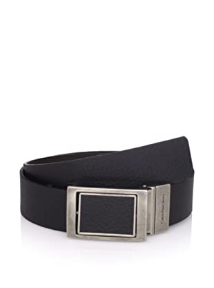 Calvin Klein Men's 4-In-1 Reversible Shrunken Leather Belt (Black/brown)