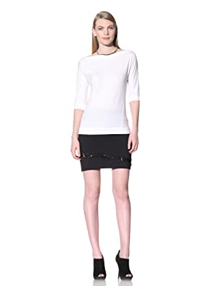David Lerner Women's Bottom Band Top (White/white)