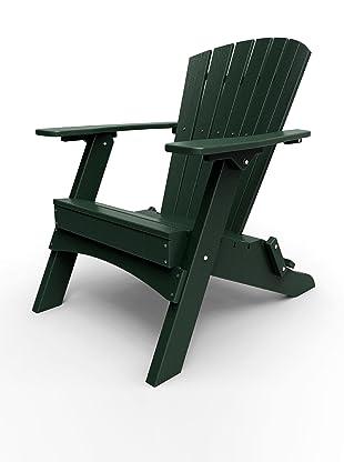 Malibu Outdoor Furniture Hyannis Folding Adirondack Chair (Turf Green)