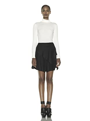Costume National Women's Asymmetrical Layer Skirt (Black)