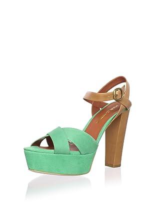 Pour La Victoire Women's Neysa Platform Sandal (Kelly Green)