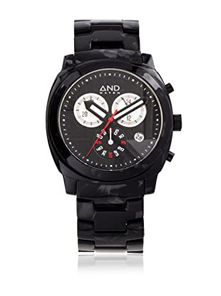 AND Watch Unisex Socrates Black Cellulose Acetate Subdial Watch