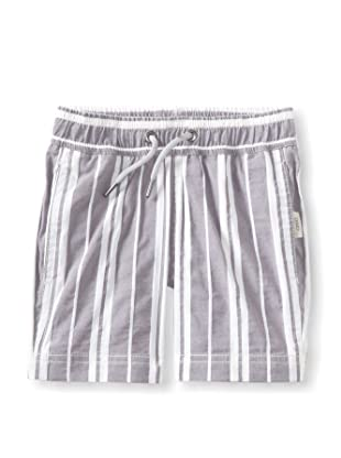 Onia Boy's Charlie Trunks (Eggplant/White Stripe)