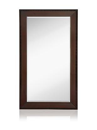 Hudson Beaded Mirror (Dark Mahogany)