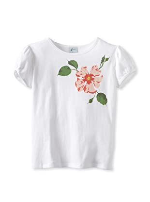 Amoretti Girl's Wild Rose Tee (White)
